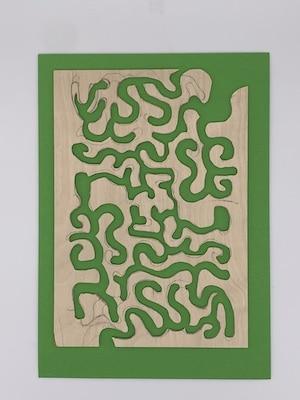 Sperrholz-Labyrinth komplett ausgesägt