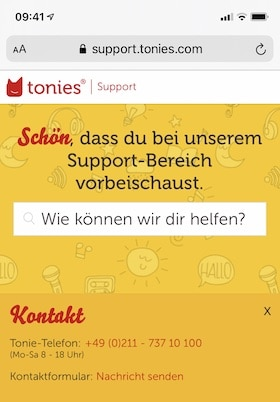 Support Tonie-Box