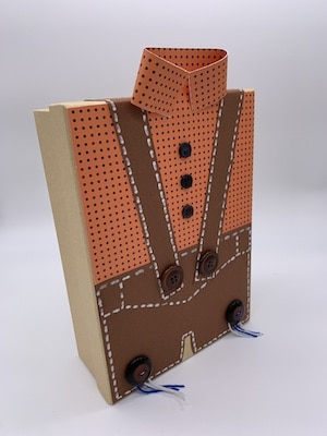 Zusammenkleben der Pappkartonteile