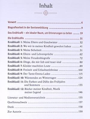 Inhaltsangabe zum Buch Erzählcafé