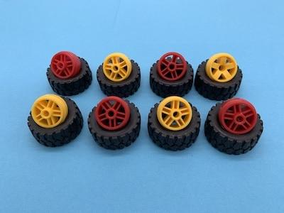 fischertechnik - Reifen und Felgen zusammenbauen