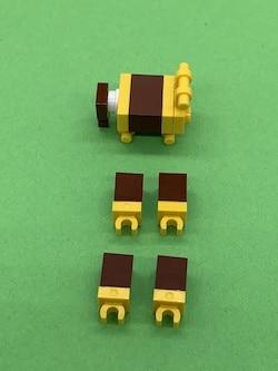 LEGO - Beine und Körper der Giraffe