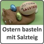Ostern basteln mit Salzteig