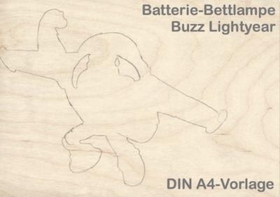 Laubsäge-Vorlage für Bettlampe Buzz Lightyear