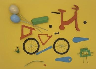 Fahrrad-Rahmen und andere Teile ausschneiden