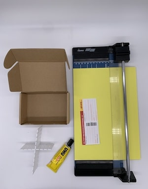 Material für die Geschenkbox-Dekoration