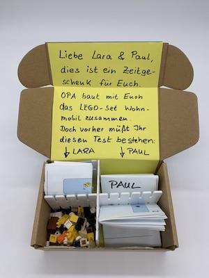 Geschenkbox-Einteilung in Fächer
