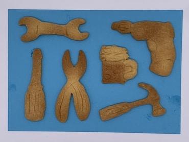Geschenkbox mit Werkzeug-Keksen