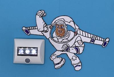 LED-Bettlampe mit Sensor