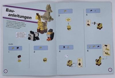 LEGO-Bauanleitung für eine Giraffe