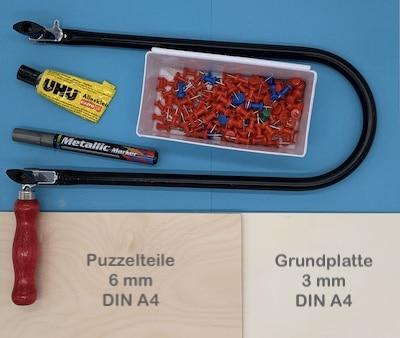 Familien-Holzpuzzle - Material und Werkzeuge