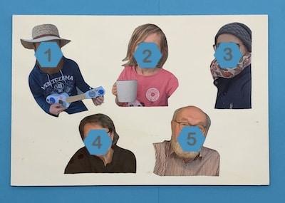 Familienfotos ausdrucken und ausschneiden