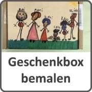 Kinder bemalen Geschenkbox