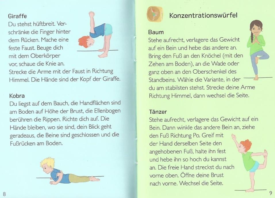 Anleitung zum Kinderyoga-Würfel vom ellermann Verlag