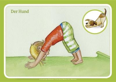 Bildkarten und Bücher für Kinder-Yoga-Übungen
