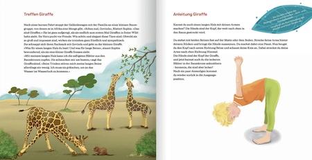 Kinderyogaübung - Hände nach oben - Giraffe