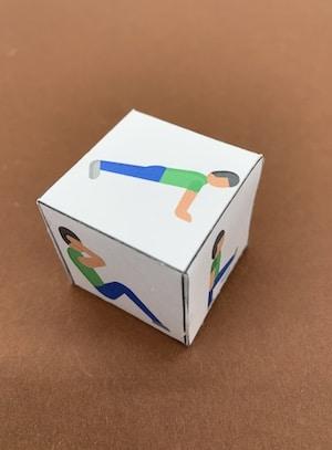 Kinderyoga-Würfel aus Papier selbst basteln