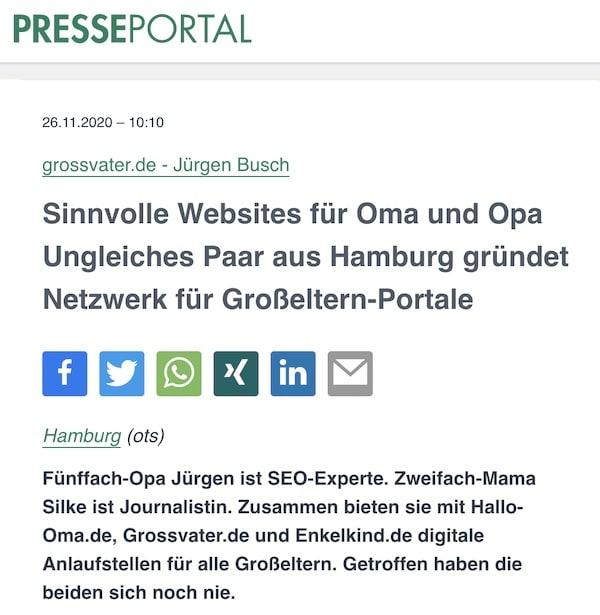 Sinnvolle Websites für Oma und Opa