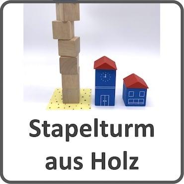 Holzstapelturm für Kleinkinder