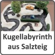 Kugel-Labyrinth aus Salzteig